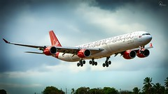 Virgin Atlantic | G-VNAP | Airbus A340-642 | BGI (Terris Scott Photography) Tags: aircraft airplane aviation plane spotting nikon d850 travel jet jetliner airbus a340 600 a346 tamron 70200mm f28 virgin atlantic