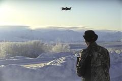 Escaping cabin fever , , , (JLS Photography - Alaska) Tags: doc docdoolittle drone winter wilderness winterlandscape snow people person man jlsphotographyalaska january fun recreation flight flying