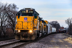 Shields Up (BravoDelta1999) Tags: unionpacific up railroad missouripacific mopac mp railway chicagoandeasternillinois cei villagrovesubdivision riverdale chicago illinois emd sd60 2180 ychyc manifest train
