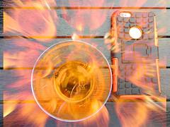 Fire water (ashokboghani) Tags: photoshop photoshopart digitalart champagne blur