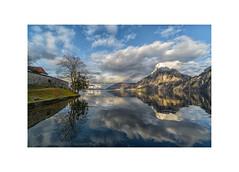 At the Lakes of Salzkammergut (My digital Gallery) Tags: traunkirchen salzkammergut traunsee oberösterreich upperaustria europe eu lake see abend spiegelung wasser water traunstein alps streiflicht