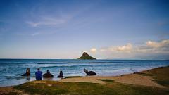 Calm (mfotograph) Tags: ocean travel blue sky green beach hawaii oahu seaview chinamanshat travelphotography landscapelandmark fuji x fujixh1 fujixcamera