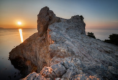 Dawn in the New World (zaxarou77) Tags: dawn new world nature outdoor landscape color sun water rock mountain blue orange sony ilce a7 a7m2 a7mii russia crimea carl zeiss carlzeiss 1635 fe sel 1635f4 ilce7m2 variotessar t mm f4 za oss sel1635z
