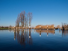 Empty Marina (Johan Moerbeek) Tags: marina polder stierop reflection pilons water bluesky noordholland krommenie canon moerbeek ngc