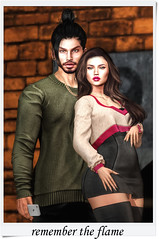 Remember the flame (RyanTailor (Taking Clients)) Tags: sinitklia alphahair hair men gay guy lelutka head body signature belleza notfound man boy homme noche skin couple theowl swallow tmd event monthly new male