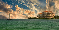 A sunset of Fisher Island. (Aglez the city guy ☺) Tags: miamibeach fisherisland outdoors urbanexploration sea seashore seascape sunset sunsetcolors waterways governmentcut clouds architecture afternoon building walking walkingaround