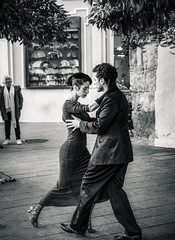Tango1b (Мaistora) Tags: dance street tango performance art dancers couple man woman style elegance class entertainers buskers busking streetperformers urban city square tourist tourism oldcity oldtown seville sevilla andalusia andalucia andaluzia andaluz step glide move movement motion synch grace still snap leica dlux typ109 edit process postprocess lightroom photoshop luminar luminar4 skylum bw mono monochrome blackandwhite film analogue print paper silver grain contrast