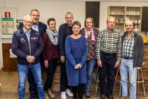 Gespräch mit der Flüchtlingshilfe Oldenburg zusammen mit Hanna Naber und Ulf Prange.