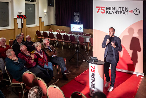 """""""75 Minuten Klartext"""" mit Ulf Prange und Jan Oskar Höffmann in Cloppenburg."""