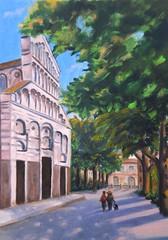 San Paolo a Ripa d'Arno -Pisa (Renoil L.) Tags: renoilpainting sanpaolo pisa cattedrale benedettini dipinto