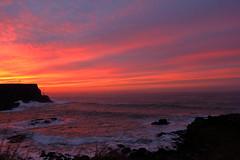 Sunset over North Atlantic Ocean (sumi!) Tags: sky sunset water sea ocean giantscauseway northernireland uk unitedkingdom magichour northatlanticocean