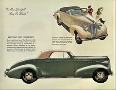 1938 Pontiac Cabriolet (aldenjewell) Tags: 1938 pontiac six eight cabriolet brochure