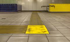 The yellow destination (jefvandenhoute) Tags: belgium belgië antwerpen metro subway