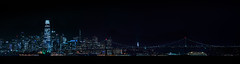 san francisco skyline from the marina (pbo31) Tags: night dark nikon january eastbay alamedacounty 2020 boury pbo31 d810 california marina sanleandro color black panorama large panoramic stitched sanfrancisco city urban skyline salesforce baybridge port ship sail cruise