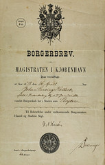 Document stating that my great grandfather had acquired citizenship in Copenhagen (Denmark) as a butcher on the 16-APR-1878  -  6M7A8638 (hallbæck) Tags: document old dated16apr1878 citizenshipincopenhagen butcher mygreatgrandfather signedbythemayor canoneos5dmarkiii ef100mmf28lmacroisusm