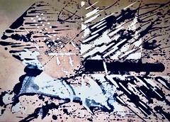 Run ! (delnaet) Tags: art kunst batik painting cotton katoen abstract