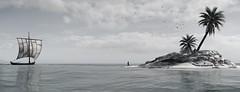 ''Sea Rover'' (HodgeDogs) Tags: island water birds explore inexplore blackandwhite photography fransbouma larahjohnson pc games gaming ubisoftquebec ubisoftmontreal ubisoft