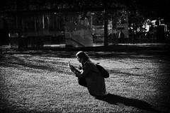 Sunny Place (michaelhertel) Tags: wiesbaden schlospark deutschland germany travel sw mono monochrome bw people street streetphotographie fujifilm fuji xe3 fujifilmxe3 zenith helios helios58 helios5820