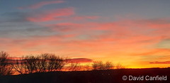 January 8, 2019 - A beautiful sunrise as seen from Lafayette. (David Canfield)