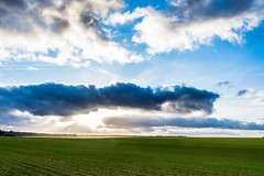 My countryside (docteurTonTon) Tags: country side france burgundy sky sun fields field côte or 21 cloud clouds landscape blue green winter sunset