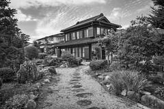 v (Shawn Harquail) Tags: architecture bw blackwhite grey japan kyoto shawnharquail blackandwhite driveway home house monochrome path shawnharquailcom walkway