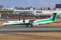 JA857A All Nippon Airways  Bombardier DHC-8-402 Q400 (阿樺樺) Tags: ja857a allnipponairways bombardier dhc8402 q400