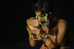 India - Kerala - Kochi - Kathakali - 4843 (Peter Goll thx for +14.000.000 views) Tags: d850 indien nikon kochi kerala india kathakali tanz dance nikkor28300 nikkor 28300mm cochin schminken maske