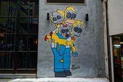 Graffiti 2018 in Hongkong (pharoahsax) Tags: asien ausland hollywoodroadumgebung hongkong orte graffiti kunst objekte hongkongisland china