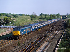 Peak At Ouston Junction (chrissyMD655) Tags: birtley ouston junction class 45 45104 ecml br blue