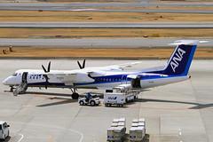 JA858A All Nippon Airways  Bombardier DHC-8-402 Q400 (阿樺樺) Tags: ja858a allnipponairways bombardier dhc8402 q400
