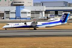 JA845A All Nippon Airways  Bombardier DHC-8-402 Q400 (阿樺樺) Tags: ja845a allnipponairways bombardier dhc8402 q400