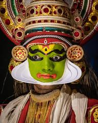India - Kerala - Kochi - Kathakali - 4933 (Peter Goll thx for +14.000.000 views) Tags: d850 indien nikon kochi kerala india kathakali tanz dance nikkor28300 nikkor 28300mm cochin schminken