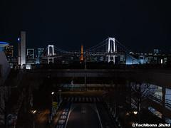 P1061063-HDR (et_dslr_photo) Tags: nightview night nightshot odaiba tokyo tokyobay tokyobayside rainbowbridge tokyotower