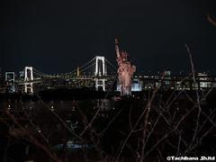 P1061036-HDR (et_dslr_photo) Tags: nightview night nightshot odaiba tokyo tokyobay tokyobayside rainbowbridge tokyotower statueofliberty