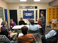"Meeting with Buttigieg campaign volunteers • <a style=""font-size:0.8em;"" href=""http://www.flickr.com/photos/117301827@N08/49357120328/"" target=""_blank"">View on Flickr</a>"