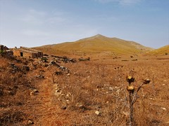 Up on Lo Zingaro, Sicily (fotoflo86) Tags: lo zingaro nature reserve riserva naturale landscape hut dry grass sicily sicilia italia italy italien