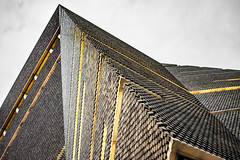 Jagged (DobingDesign) Tags: architecture london switchhouse tatemodern texture lines diagonals angles sharp yellow modernarchitecture triangles cladding abstractarchitecture snakeskin