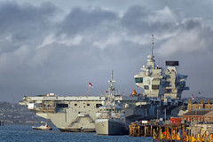 IMG_3375_Nik (alanbryherhowell) Tags: hms prince wales queen elizabeth portsmouth royal navy aircraft carrier