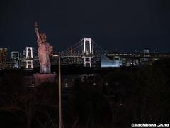 P1061030-HDR (et_dslr_photo) Tags: nightview night nightshot odaiba tokyo tokyobay tokyobayside rainbowbridge tokyotower statueofliberty