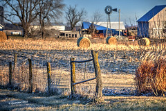 Farmer's Fence_200999 (rjmonner) Tags: agriculture agricultural agronomy agronomic aged acreage acres architecture barn bygonedays barbedwire country cornbelt dilapidated dormant decayed exposed earlylight farm farming fence field fencefriday farmyard grass grasses homestead heartland history iowa nikon light land neglected midwest metal morning morninglight outdoors old outbuildings post posts quaint unique antiquity rural relic rustic sunrise usa unpainted useful vintage vanishing windmill winter wire yesteryear yard y