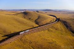 2TE116UD-076 UBTZ, Bayan – Khairkhan (Mongolia) (Martin Válek) Tags: rail railway railroad train locomotive zug eisenbahn vlak železnice mongolsko mongolei transmongolianrailway ulaanbaatarrailway