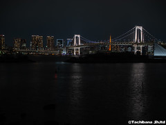 P1061048-HDR (et_dslr_photo) Tags: nightview night nightshot odaiba tokyo tokyobay tokyobayside rainbowbridge tokyotower