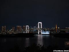 P1061017-HDR (et_dslr_photo) Tags: nightview night nightshot odaiba tokyo tokyobay tokyobayside rainbowbridge tokyotower