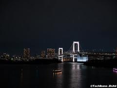 P1060997-HDR (et_dslr_photo) Tags: nightview night nightshot odaiba tokyo tokyobay tokyobayside rainbowbridge tokyotower