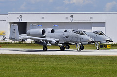 2x A-10 Thunderbolts at FLL (Infinity & Beyond Photography: Kev Cook) Tags: fairchild republic a10 thunderbolt ii warthog usaf us air force aircraft photos