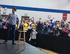 "Introducing Pete Buttigieg at town hall in Marshalltown, IA • <a style=""font-size:0.8em;"" href=""http://www.flickr.com/photos/117301827@N08/49357776182/"" target=""_blank"">View on Flickr</a>"