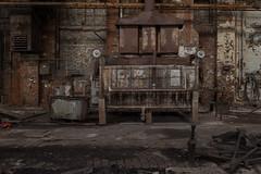 Machine with eyes (michael_hamburg69) Tags: lostplace offthemap abandonedplace urbanexploration urbex phototourmit3daybeard3tagebart unterwegsmitchristian raw machine halle werkstatt