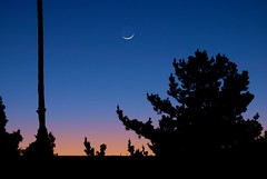 The Moon Follows the Sun (Bob_Wall) Tags: sunset sky evening sanjose moonset bobwall btwgf