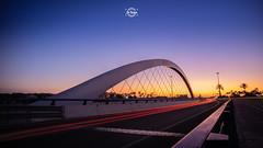 Bridge at sunset (Sr.Ivan) Tags: bridge puente amanecer landscape sunrise bluehour longexposure largaexposición elche visitelche elx palmeral palmeras palmtree canon eos canoneosm50 m50 mirrorless 12mm 7artisans