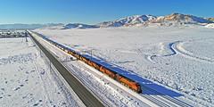 Monolith snow and sun (delticfan) Tags: tehachapi monolith drone intermodal bnsf burlingtonnorthernsantafe bnsf5735 bnsf7921 bnsf3854 bnsf5053 bnsf4448 bnsf7273